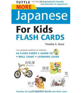 Tuttle More Japanese for Kids Flash Cards Kit (enthält eine CD)